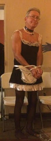 David Marsh, 68, was arrested while wearing a maid's outfit and dog collar.
