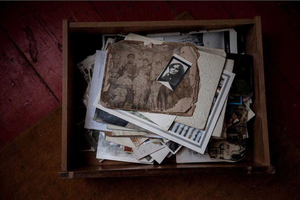 A collection of family photographs belonging to Yepraksia Gevorgyan. (Photo copyright: Diana Markosian)