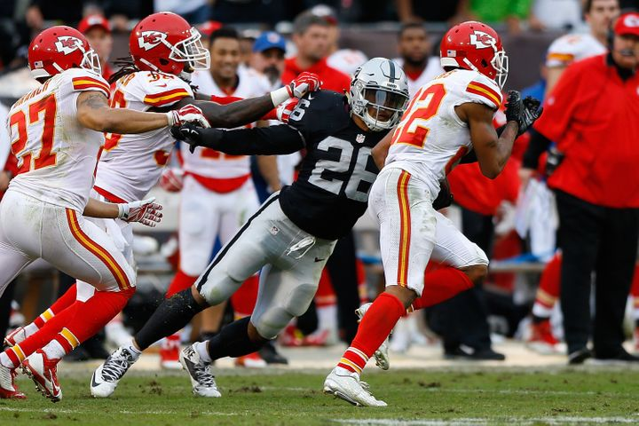 Peters' timely interception against his hometown Oakland Raiders helped set up a crucial win for the Chiefs.