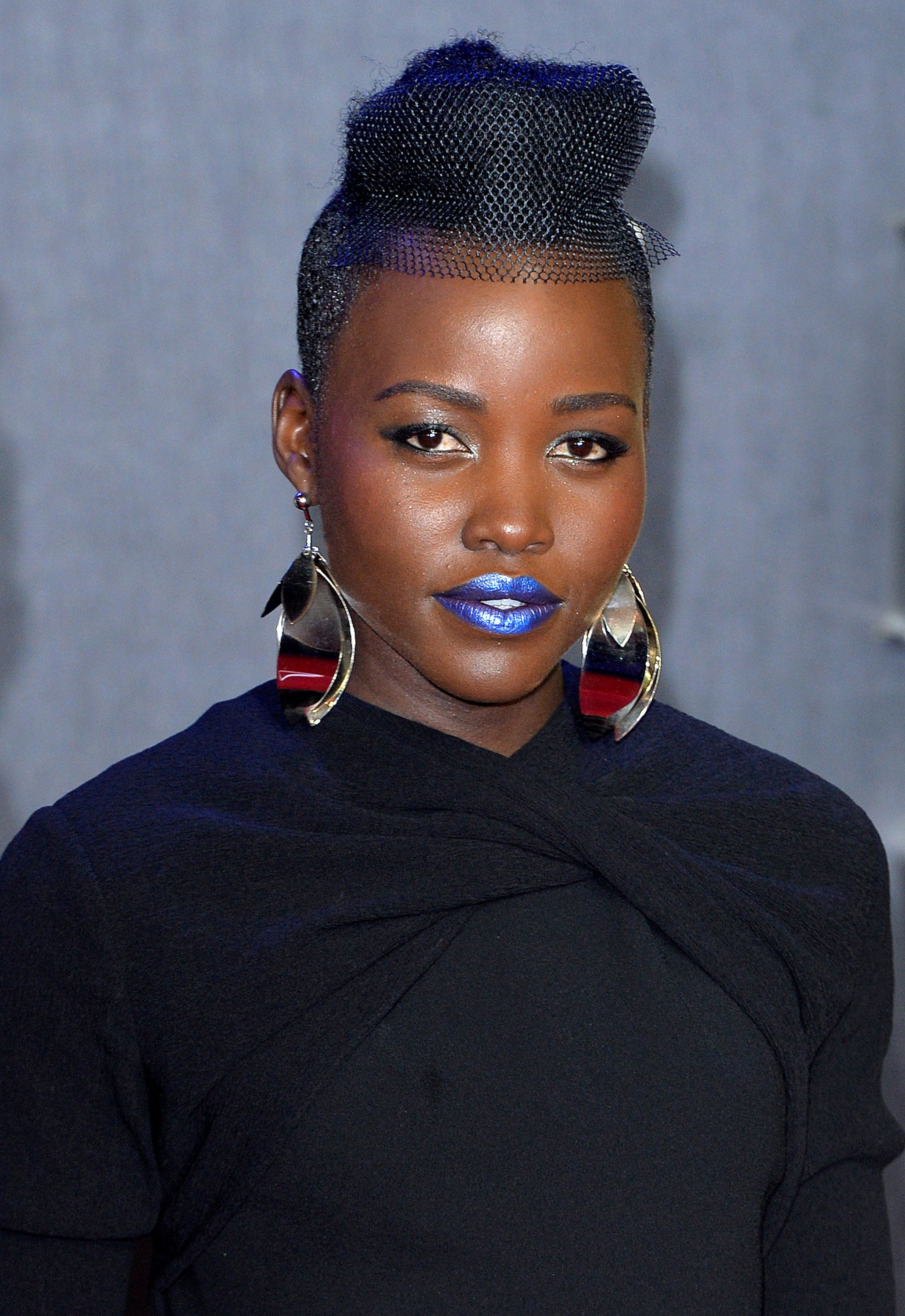 LONDON, ENGLAND - DECEMBER 16:  Lupita Nyong'o attends the European Premiere of 'Star Wars: The Force Awakens' at Leicester Square on December 16, 2015 in London, England.  (Photo by Anthony Harvey/Getty Images)