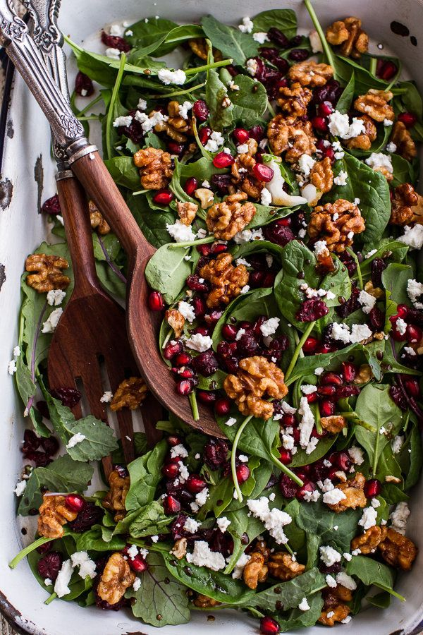"<strong>Get the <a href=""http://www.halfbakedharvest.com/winter-salad-maple-candied-walnuts-balsamic-fig-dressing-big-giveawa"