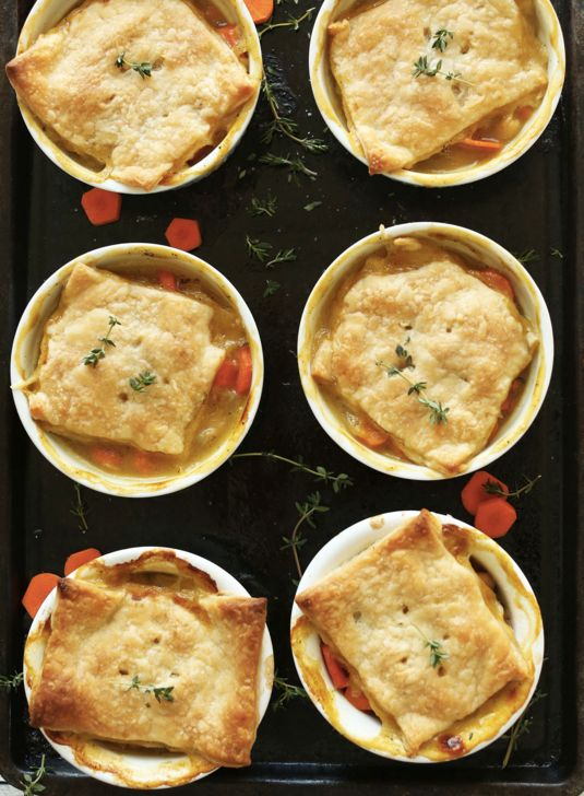 "<strong>Get the <a href=""http://minimalistbaker.com/thyme-white-bean-pot-pies/"">Thyme White Bean Pot Pie recipe</a> from"