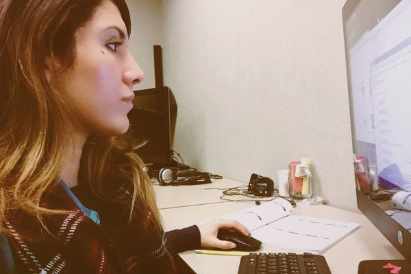Before she was hired at this company in September, Mora juggled two part-time jobs: at a hotel and at her college's car