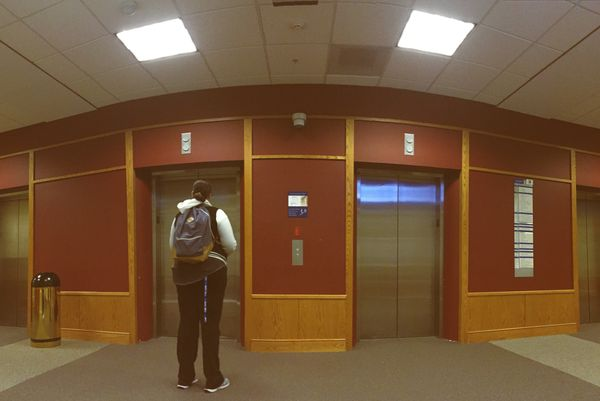 """""""Luckily for students that come after 5 p.m., the elevators are usually empty."""""""