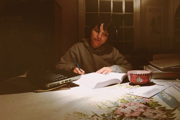 """<strong>9:30 p.m.</strong> """"At home, I make myself dinner and I finish my homework and other work for the day. That's my rout"""
