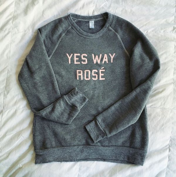 """Get it <a href=""""http://shop.yeswayrose.com/product/yes-way-rose-sweatshirt"""">here.</a>"""