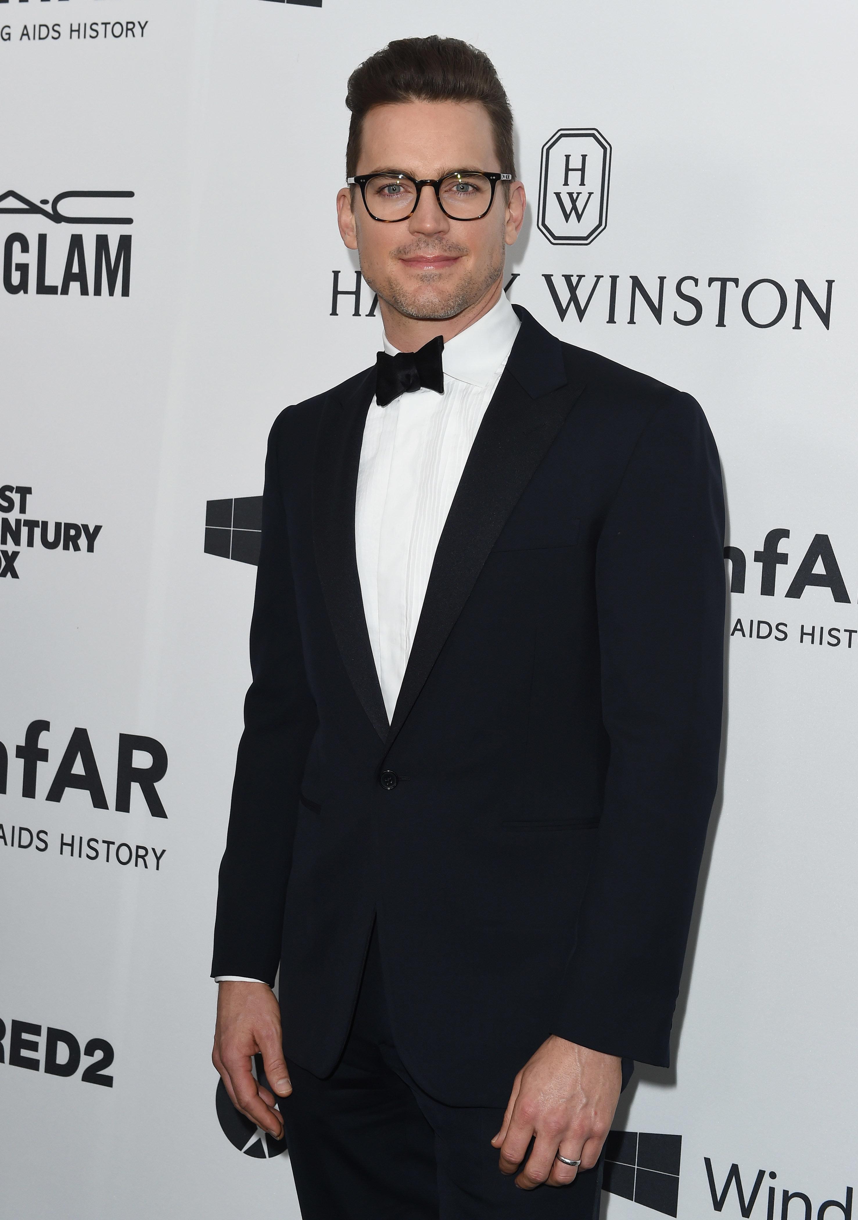 HOLLYWOOD, CA - OCTOBER 29:  Actor Matt Bomer arrives at amfAR's Inspiration Gala Los Angeles at Milk Studios on October 29, 2015 in Hollywood, California.  (Photo by Axelle/Bauer-Griffin/FilmMagic)