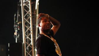 NEW YORK, NY - SEPTEMBER 07:  Meek Mill performs at the Fool's Gold Day Off concert event on September 7, 2015, in the Brooklyn borough of New York City.  (Photo by Johnny Nunez/WireImage)