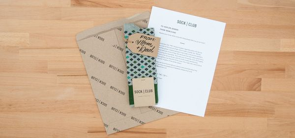 """<a href=""""https://www.sockclub.com/"""" target=""""_blank"""">Sock Of The Month Club</a>, $12 per&nbsp;delivery"""
