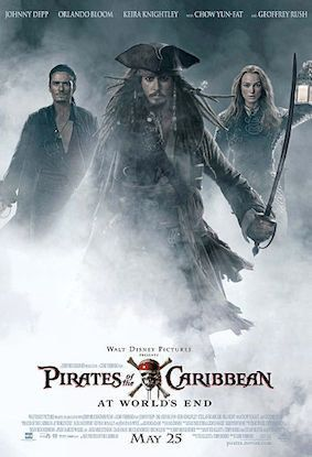 """""""Pirates of the Caribbean: At World's End"""" (2007), $963.4 MillionWorldwide"""