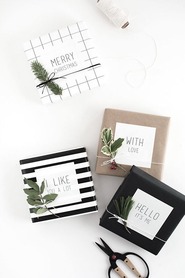 """Tired of the sametried-and-true red ribbon? Go minimal and modern with stickers instead. Head over to <a href=""""http://w"""