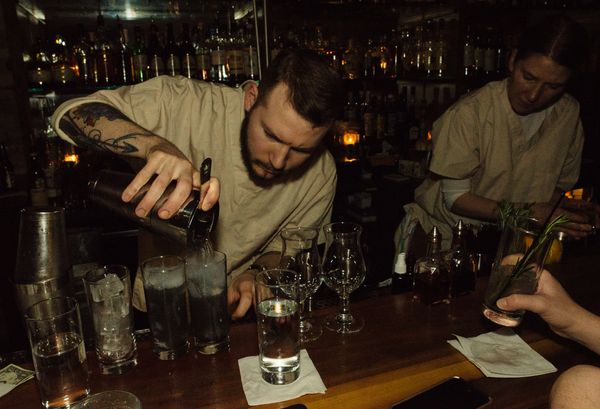 Bartenders served up a series of Star Wars-inspired drinks.