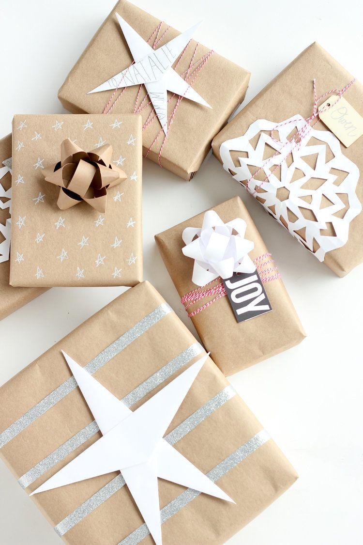 http://www.deliacreates.com/three-easy-kraft-paper-gift-wrapping-ideas/
