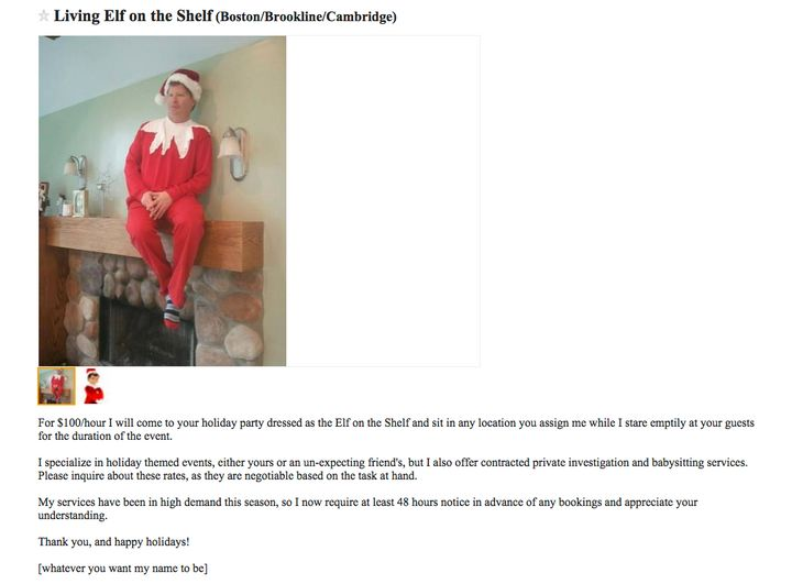 Ad posted to Craigslist by Jesse Brower. Photo shows comedian Jim Clark.