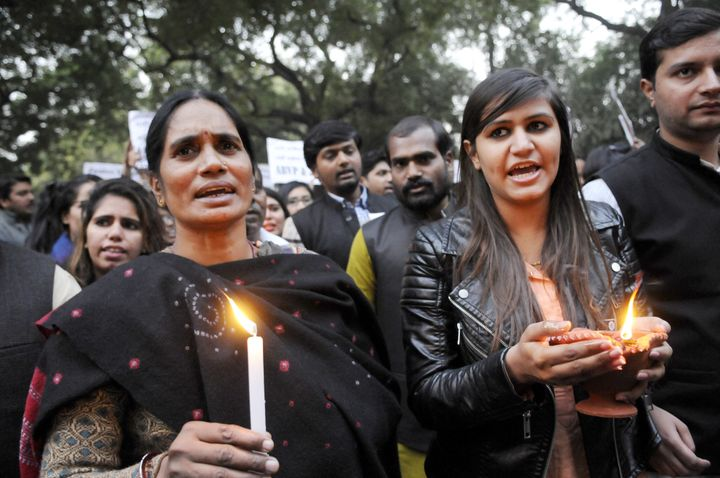 Protestors hold a candle march on the third anniversary of the attack. Releasing Jyoti Singh's identity was seen as a ch