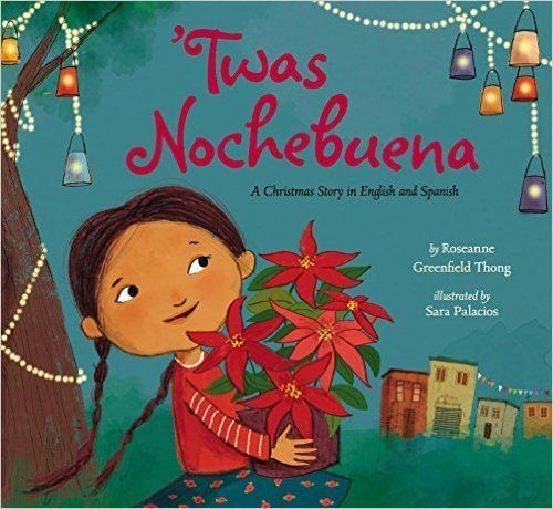 'Twas the night before Christmas and the jovial Latino family in this book is stirring up hot chocolate and decorating the ho