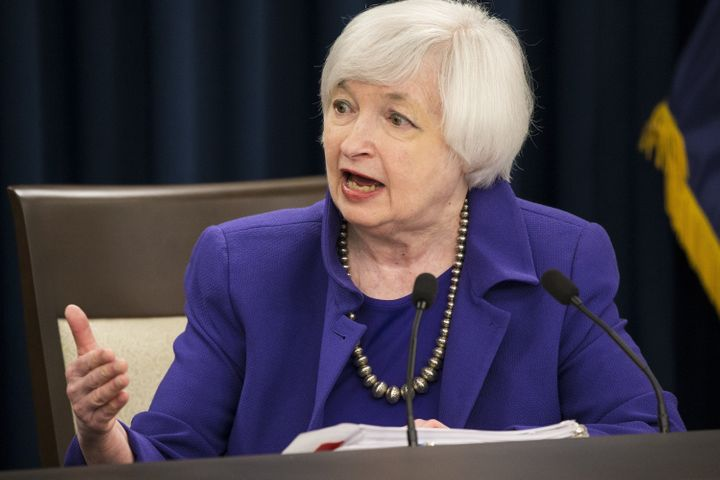 Federal Reserve Chairwoman Janet Yellen held a news conference after the Fed announced that it was raising its key