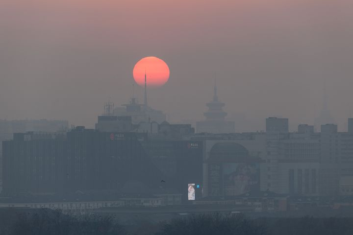 "The Chinese capital issued its second ever ""red alert"" for smog on Friday."