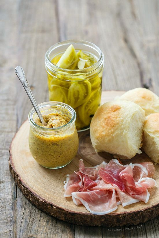 "<strong>Get the <a href=""http://www.loveandoliveoil.com/2014/10/country-ham-and-pickle-sliders.html"">Country Ham and Pickle S"