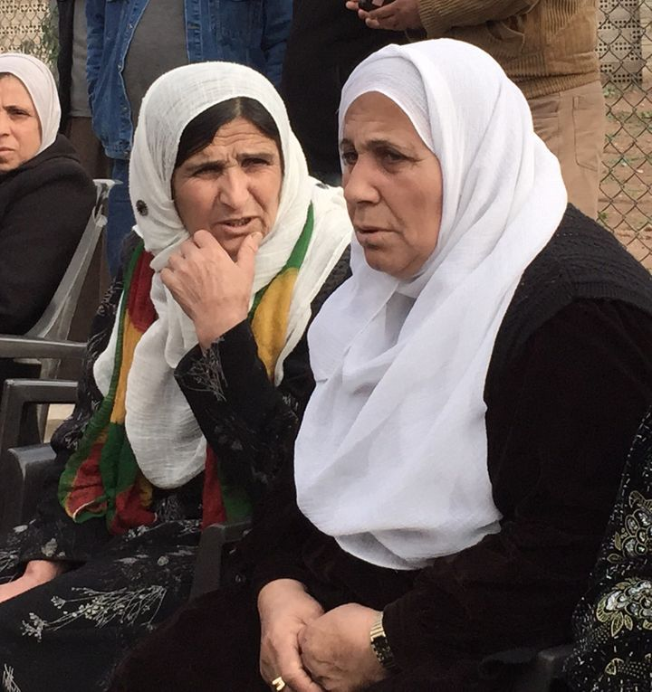 Rojava residents at a people's assembly meeting in Qamishli, Rojava, Syria, in December 2014.