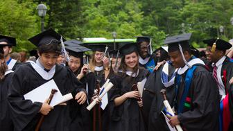 Graduation at Hamilton College, an institution that has boosted its enrollment of poor students by eliminating income as a factor in enrollment decisions.