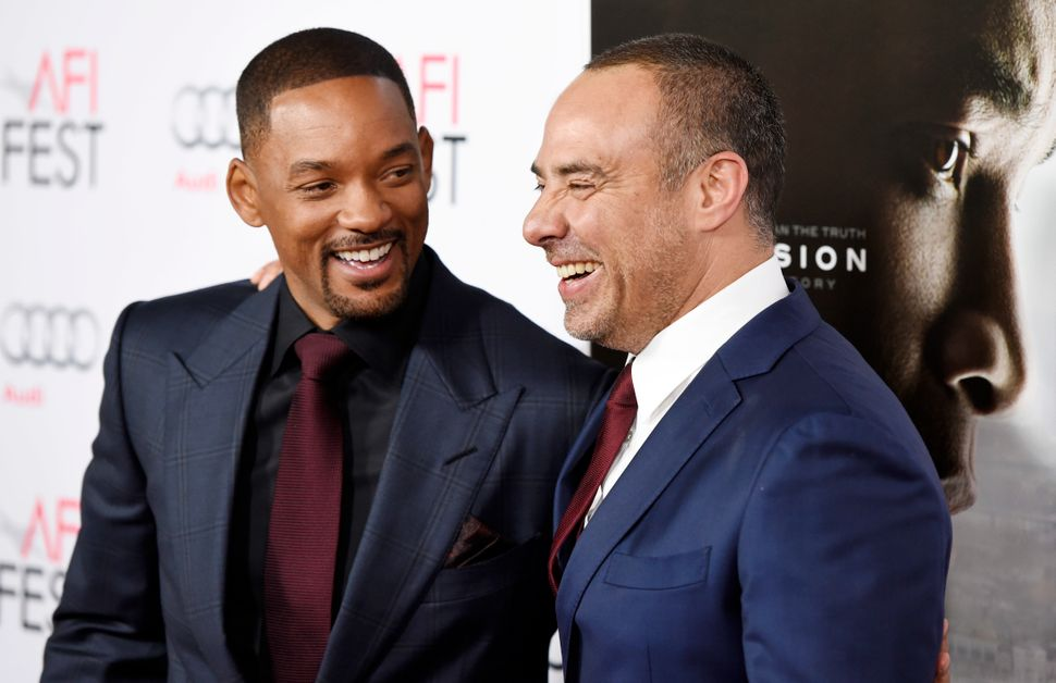 Will Smith and director Peter Landesman at the world premiere of the film on Nov. 10, 2015, in Los Angeles, California.&