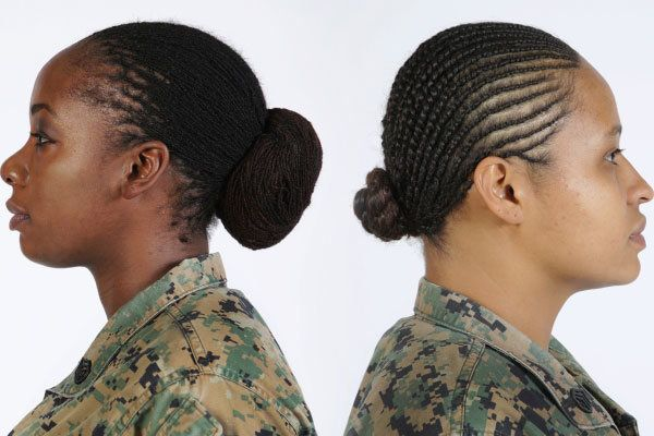hairstyles for marines marines can finally wear locks and twists in their hair huffpost