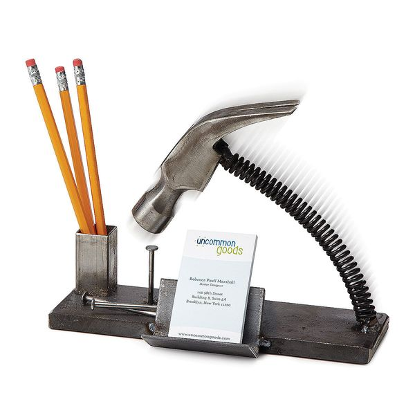 "Nailed It Desk Organizer, $58 at <a href=""http://www.uncommongoods.com/product/nailed-it-desk-organizer"" target=""_blank"">Unco"