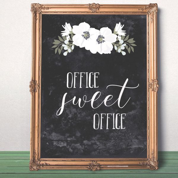 "Office Sweet Office Print, $5 at <a href=""https://www.etsy.com/listing/252236332/office-sweet-office-print-printable-gift?ga_"