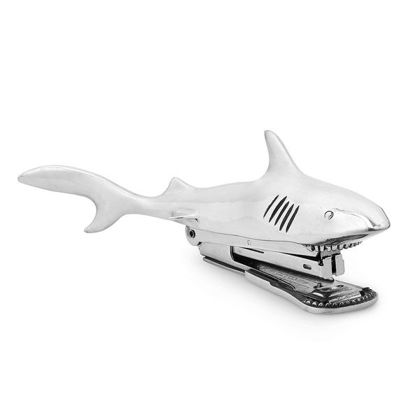 "Shark Bite Stapler, $145 at <a href=""http://www.uncommongoods.com/product/shark-bite-stapler"" target=""_blank"">UncommonGoods</"