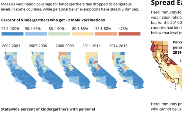 """""""Measles <a href=""""https://www.huffpost.com/entry/measles-in-us-on-the-rise_n_5461600"""" target=""""_hplink"""">continues to be a glob"""