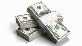 Bundles of 100 dollar bills.