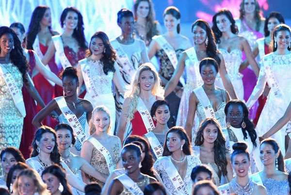 Contestants at theMiss World Grand Final in Sanya, in southern China's Hainan province, on Dec. 19, 2015.