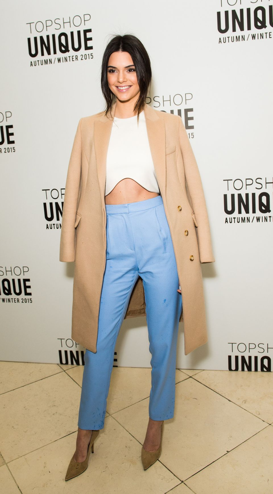 At the Topshop Unique London Fashion Week show on Feb. 22.