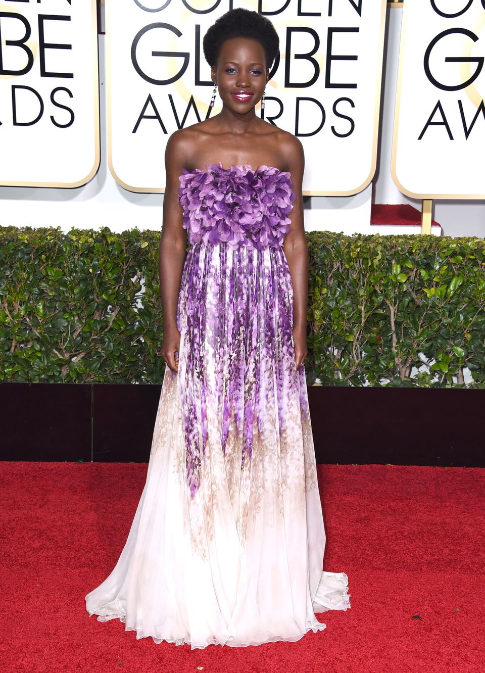 Stepping out in Giambattista Valliatthe 72nd Annual Golden Globe Awards in Beverly Hills, on January 11.