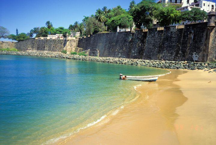 Old San Juan Beach, San Juan, Puerto Rico.