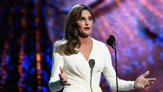 LOS ANGELES, CA - JULY 15:  Caitlyn Jenner accepts Arthur Ashe Courage Award and speaks onstage during The 2015 ESPYS at Microsoft Theater on July 15, 2015 in Los Angeles, California.  (Photo by Kevin Mazur/WireImage)