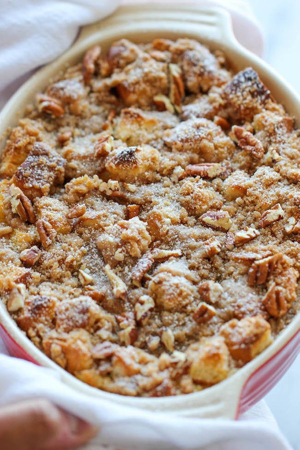 "<strong>Get the <a href=""http://damndelicious.net/2014/09/15/baked-pumpkin-cream-cheese-french-toast/"" target=""_blank"">Baked"