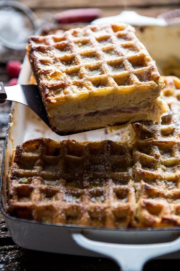 "<strong>Get the <a href=""http://www.halfbakedharvest.com/monte-cristo-waffle-strata/"" target=""_blank"">Monte Cristo Strata Waf"