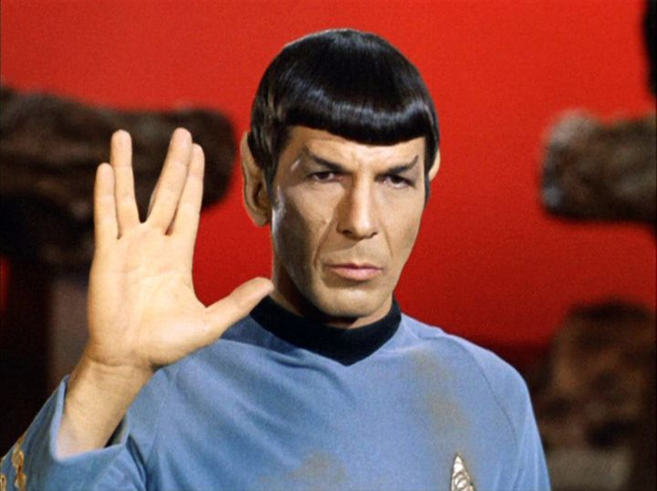 Actor Leonard Nimoy, who played Mr. Spock, had his face on Monday's front page twice. His inclusion was part of an article on