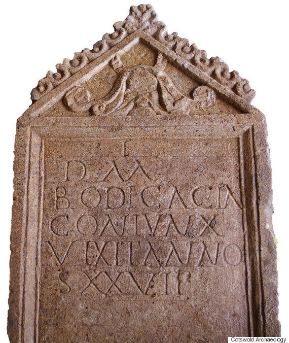 "An elaborate <a href=""https://www.huffpost.com/entry/roman-tombstone-bodica-video_n_6760358?utm_hp_ref=daily-discovery"">Roman"