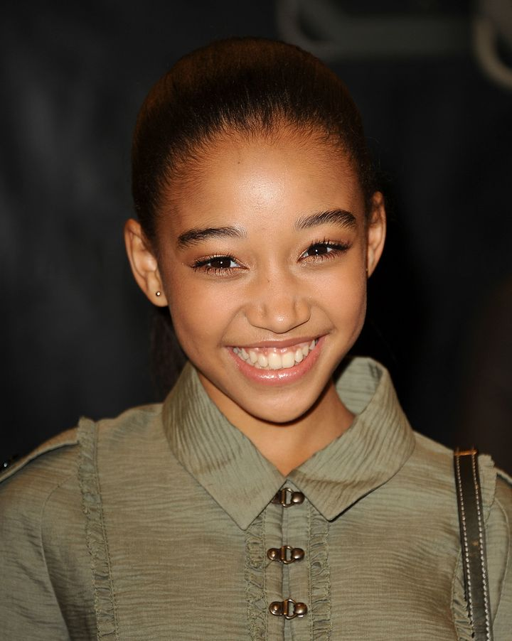 "Actress Amandla Stenberg, who played Rue in ""The Hunger Games."""