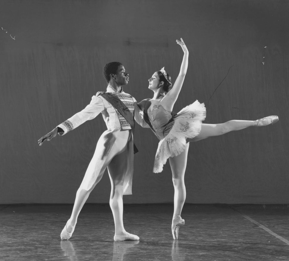 "A man and woman performing ""The Nutcracker"" at the Baltimore School for the Arts, Baltimore, Maryland, November 22, 1994.&nbs"