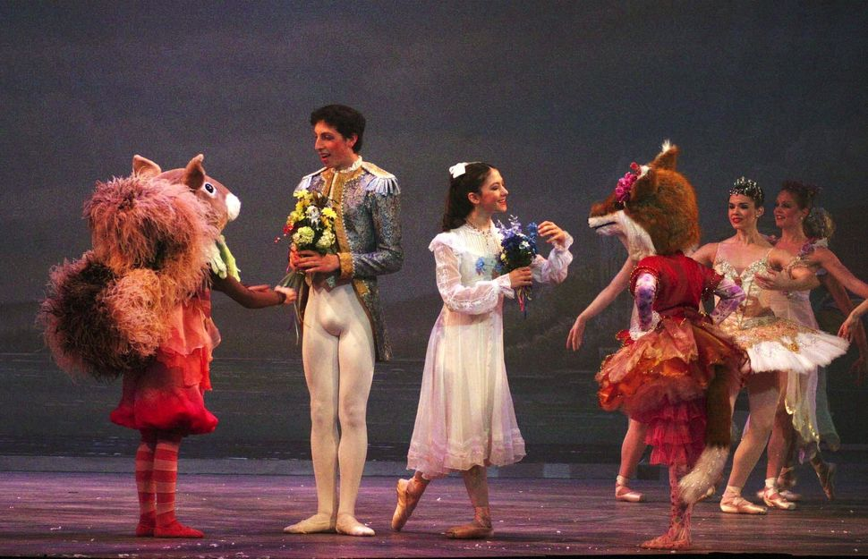 Nutcraker Prince (Joshua Starr) and Clara (Mariana Olaizola) during final dress rehearsal of the Washington Ballet's producti