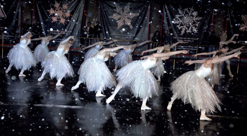 "Students from the Jacqueline Kennedy Onassis School of American Ballet Theatre perform ""The Land of Snow"" from ""The Nutcracke"
