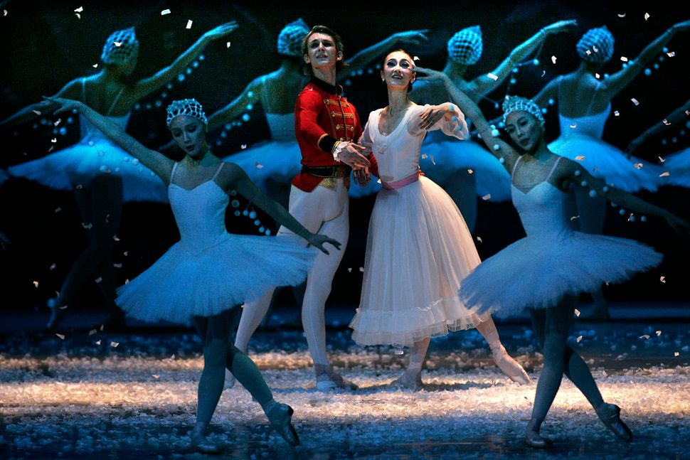 "Peformance photos of Universal Ballet of Korea in ""The Nutcracker"" at Shrine Auditorium in 2006."