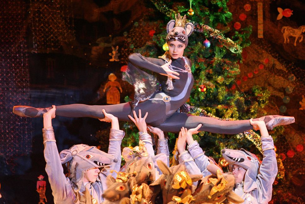 "Moscow Classic Ballet dancers perform during a rehearsal of ""The Nutcracker Suite"" in Madrid in 2006."