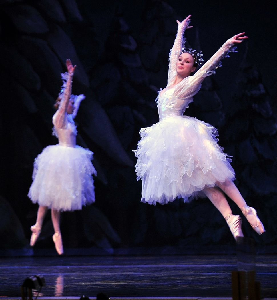 "Dancers rehearse their moves in ""The Waltz of the Snowflakes"" at Merrill Auditorium in 2011."