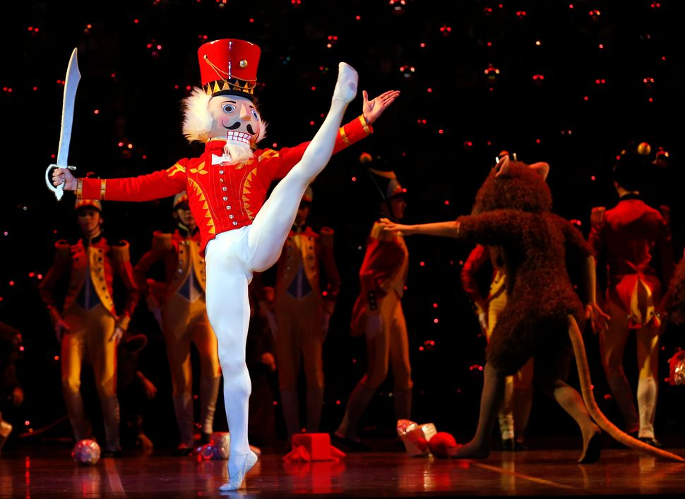 "Paulo Arrais performs as the Nutcracker Prince during Boston Ballet's dress rehearsal for ""The Nutcracker"" in 2014."