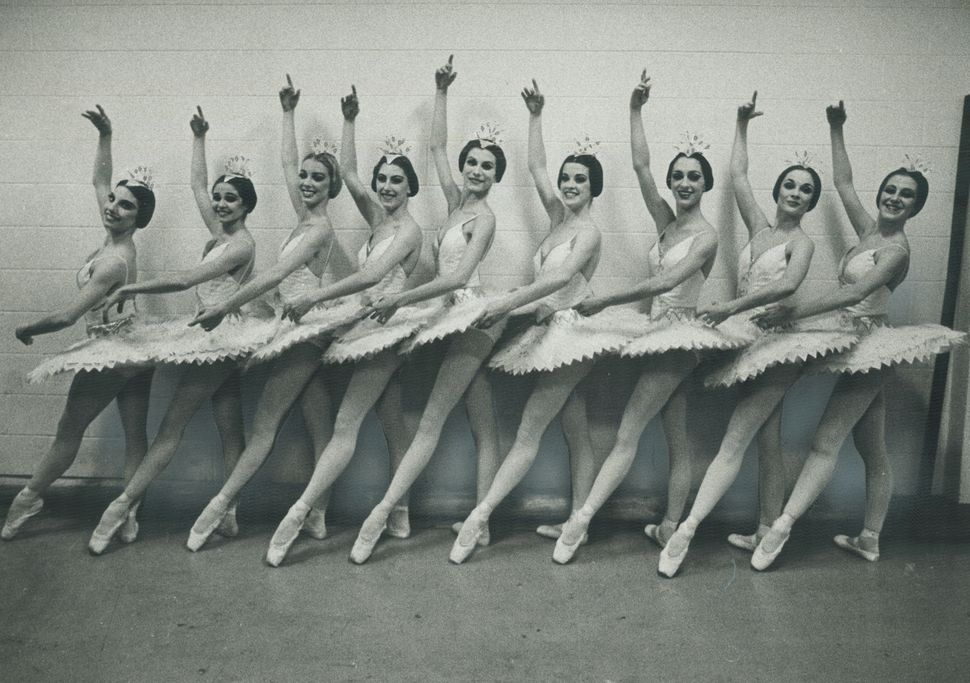 National Ballet company dancers in their Nutcracker Suite costumes in 1981.